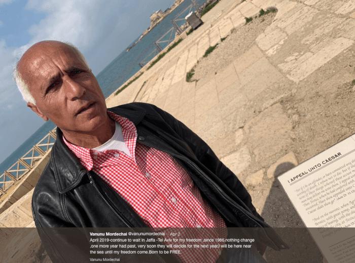 Israeli WMD Whistleblower Vanunu Mordechai Tweets Appeal Unto Caesar