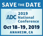 ADC National Convention Oct. 18-19, Anaheim @ heraton Park Hotel