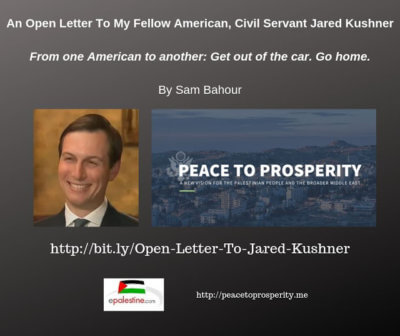 Open Letter to Jared Kushner and all Americans who 'drive drunk'