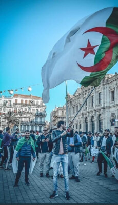Algeria protestors. Photo courtesy of Abdennour Toumi