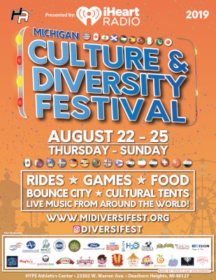 Cultural & Diversity Festival, Dearborn Heights Aug. 22 - 25, 2019