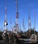 Radio antenna towers Sandia Peak wikipedia