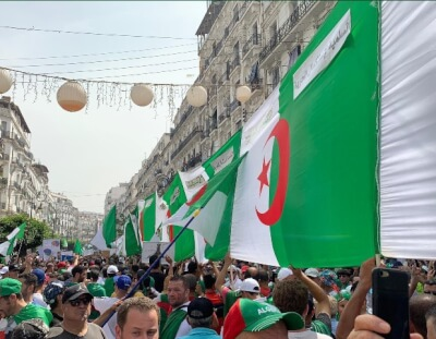 Hirak 19 Algeria. Photo courtesy of Abdennour Toumi