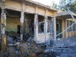 Syrian healthcare center destroyed in missile strike August 29 2019. Photo courtesy of SAMS