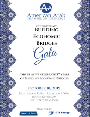 "American Arab Chamber hosts ""Building Bridges"" banquet Oct. 18, 2019"