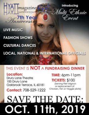 Hyatt Magazine Oct. 11, 2019 fundraiser