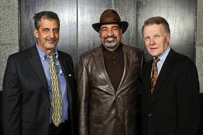 Ray Hanania, Hollywood actor Sayed Badreya and Illinois House Speaker Michael J. Madigan attending dinner honoring Ziyad Brothers Importing Nov. 2011