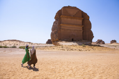 Saudi Arabia's ancient UNESCO heritage site Madain Saleh will open to tourists for the first time in 2020 Photo courtesy of PrNewsWire, SCTH and Visit Saudi