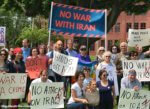 Americans protest war against Iran. Photo courtesy of the National Nonviolent PeaceForce.