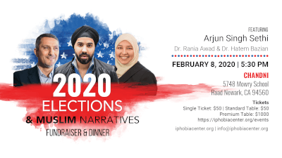 Islamophobia Studies Center, California to host fundraiser Feb. 8, 2020