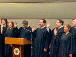 Rouhy Shalabi sworn in as an Associate Judge in the Circuit Court of Cook County on Monday Jan. 6, 2020. Photo courtesy of Dave Shalabi.