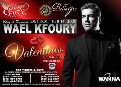 Wael Kfoury Valentines Day concert Detroit 2020