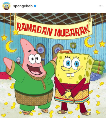 Muslims applaud Spongebob Square Pants Ramadan Mubarak message