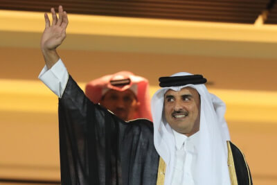 Qatar Emir Tamim Al-Thani Courtesy of the Arab News Newspaper