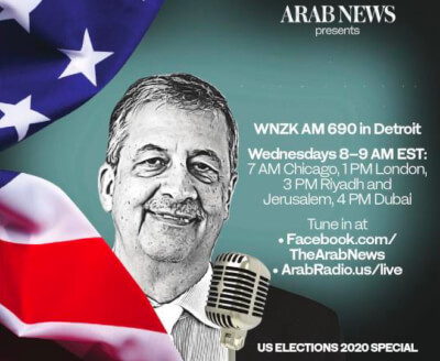 "Arab News correspondent hosts ""Special Election Coverage"" on Detroit radio"
