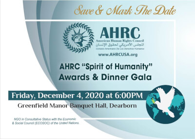 American Human Rights Council hosts annual Spirit of Humanities gala Dec. 4