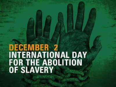 International Day for the Abolition of Slavery recognition by AHRC. Image provided by AHRC