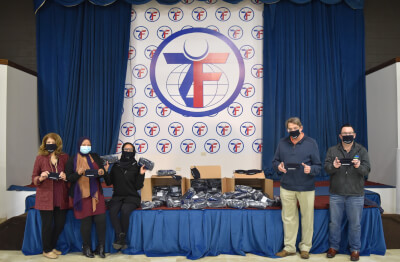 Bridgeview and Lyons Township donate face masks to Zakat Foundation
