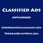 Classified logo networked system SuburbanChicagoland.com and TheArabDailyNews.com