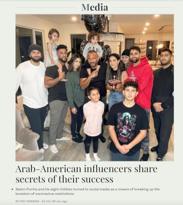 Arab-American influencers Furrha Family share secrets of their success