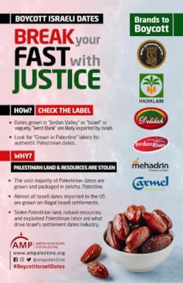 American Muslims for Palestine organizes boycott of Israeli Dates
