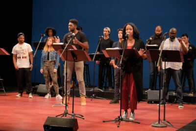 """TheatreWorks Silicon Valley will present """"New Works Festival Online,"""" streaming readings of new plays and musicals, April 23 - May 15, 2021. Seen here is a reading of """"Once Upon a Rhyme"""" in the 2018 New Works Festival. Photo Credit: Kevin Berne"""