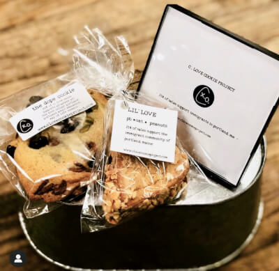 """Farm Stand foods featured  by C. Love Cookie Project. Featured during the third episode of """"Elevating Voices,"""" a new TV series celebrating diversity in Maine businesses. Photo courtesy of Castle PR, Maine"""