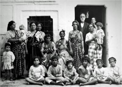 Family in the Tripoli Jewish Quarter. Photo courtesy of Author Randolph W. Hobler