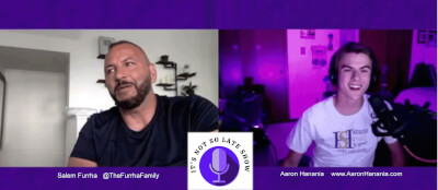 Its Not So Late Show interview with guest and social media phenom Salem Furrha with Aaron Hanania.