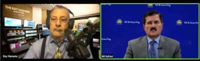 National Council of Resistance of Iran board member Ali Safavi talks with Ray Hanania on The Ray Hanania Radio show in Detroit and Washington DC. June 2, 2021