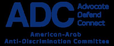 ADC logo. Arab American Anti-Discrimination Committee