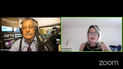 Ray Hanania interviews Iraqi columnist Dalia AlAqidi on The Ray Hanania Radio Show Sept. 1, 2021 on the US Arab Radio Network sponsored by Arab News