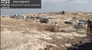 Israeli soldiers and settlers attack Palestinians in Khirbet al-Mufaqarah, on Sept. 28, 2021 captured by B'Tselem video. The attacks were intentionally distorted by Israeli TV to blame the Palestinians